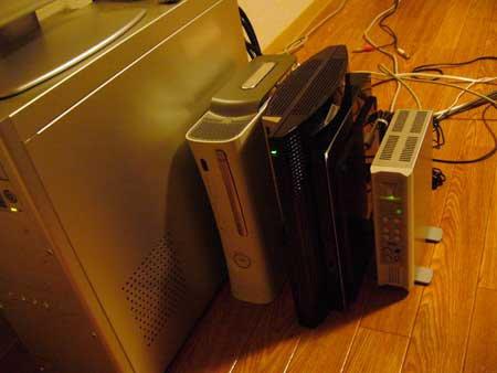 Xbox360と並べる
